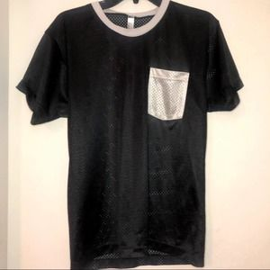 American apparel jersey top size small